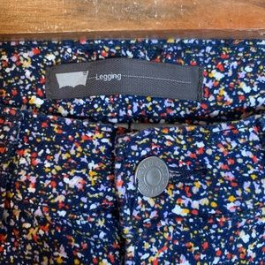 Levi's Leggings Skinny Jeans Polka Dot Paint Look